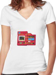 Pokedex  Women's Fitted V-Neck T-Shirt