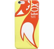100% Fox, vertical iPhone Case/Skin