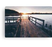 Dock Sunset Canvas Print