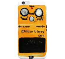 Boss DS-1 Distortion Pedal Acrylic Painting White Edited Canvas Board iPhone Case/Skin