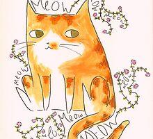 Floral Feline by megangregware