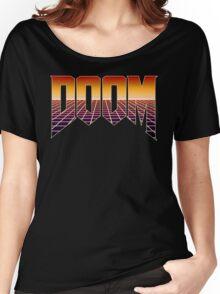 80's Cyber Grid Doom Emblem Women's Relaxed Fit T-Shirt