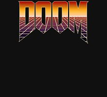 80's Cyber Grid Doom Emblem Unisex T-Shirt