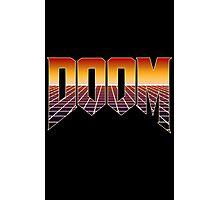 80's Cyber Grid Doom Emblem Photographic Print