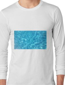 Pool Water - Cyan Long Sleeve T-Shirt
