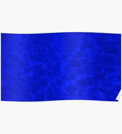 Pool Water - Blue Poster