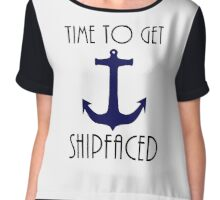 Time To Get Shipfaced Cruise Design Chiffon Top