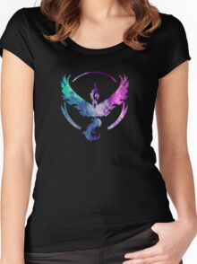 TEAM VALOR - COLORFUL GALAXY Women's Fitted Scoop T-Shirt