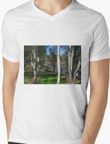 View through the trees Mens V-Neck T-Shirt