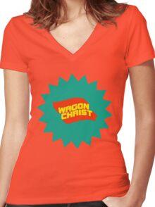Wagon Christ - Tally Ho splat art Women's Fitted V-Neck T-Shirt