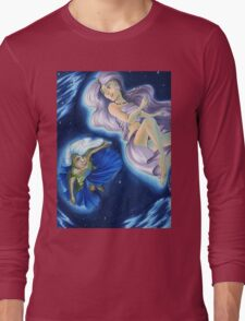 The Planets: Earth and Moon Long Sleeve T-Shirt