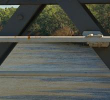 river through the rails. Sticker