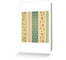 Shabby chic,rustic,grunge,patchwork,girly,cute,floral,polka dots Greeting Card