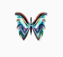 Colorful Blue Modern Butterfly Transp. Unisex T-Shirt