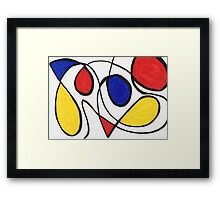 Abstract Doggie  Framed Print