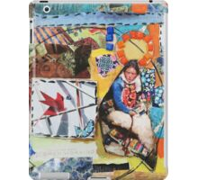 """""""Women Working"""" Colorful Layered Mixed Media Collage iPad Case/Skin"""