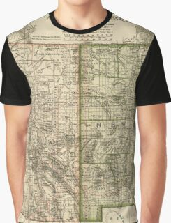 Vintage Map of Arizona and New Mexico (1899) Graphic T-Shirt