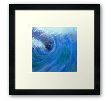 Peinture abstraite vague - wave abstract painting Framed Print