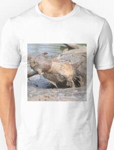 Warthog - African Wildlife Background - Healing Mud Bath T-Shirt