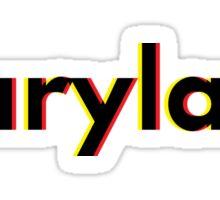 Maryland design  Sticker