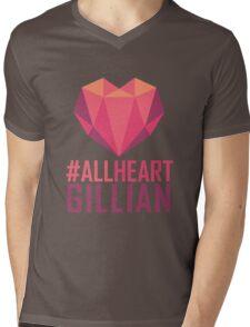 #AllHeartGillian - Pink  Mens V-Neck T-Shirt