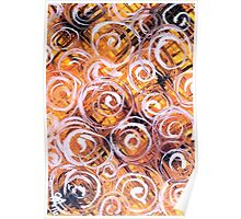 Oat Harvest Yellow Black Purple Orange Summer Fall Colorful Colors Poster