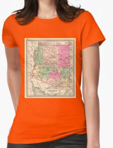 Vintage Map of Arizona (1881) Womens Fitted T-Shirt