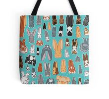 Who's Your Bunny   Show Rabbit Breeds Textile Angora Holland Lop Belgian Hare Rex Rhinelander Dutch Jersey Wooly American Rabbit Breeders Tote Bag