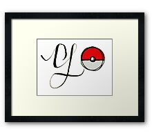 Pokemon Go! Framed Print