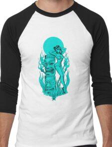 Tiki blue moon Men's Baseball ¾ T-Shirt