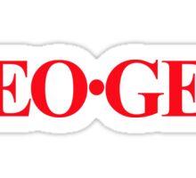 Neo Geo Bold Red Sticker