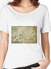 Vintage Map of The British Isles (1590) Women's Relaxed Fit T-Shirt