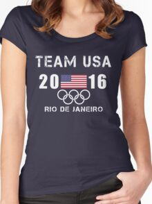 Team USA - Olympic Rio 2016 - Rio 2016 Women's Fitted Scoop T-Shirt
