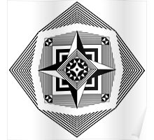 Compass Rose Pattern Poster