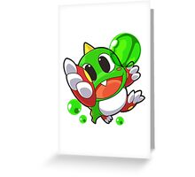 Bub from Bubble Bobble  Greeting Card
