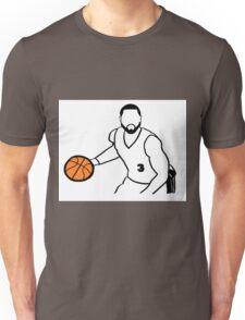 Dwyane Wade Dribbling a Basketball Unisex T-Shirt