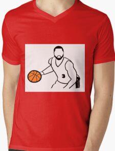 Dwyane Wade Dribbling a Basketball Mens V-Neck T-Shirt