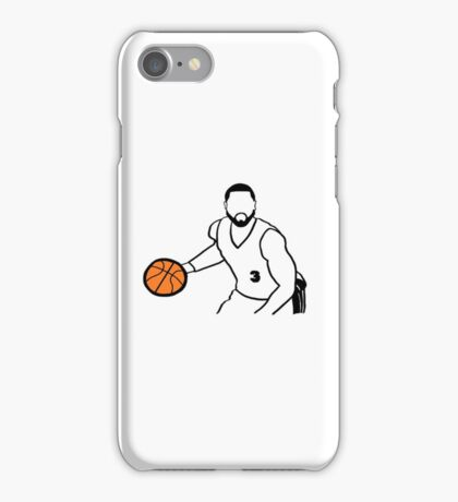Dwyane Wade Dribbling a Basketball iPhone Case/Skin
