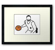 Dwyane Wade Dribbling a Basketball Framed Print