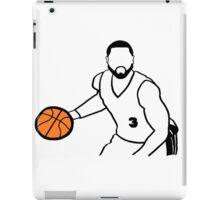 Dwyane Wade Dribbling a Basketball iPad Case/Skin