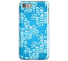 Water drops illustration pattern  iPhone Case/Skin