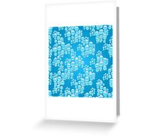 Water drops illustration pattern  Greeting Card