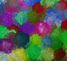 bubble flowers Sticker