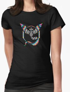 TEAM MYSTIC - PSYCHEDELIC Womens Fitted T-Shirt