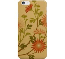 Vintage Pink and Red Wildflower Design iPhone Case/Skin