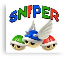 Mario Kart Shell Sniper Canvas Print