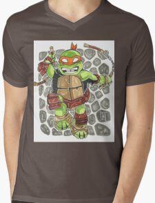 Michelangelo - Chibi Mens V-Neck T-Shirt
