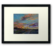 Desert Highway Framed Print