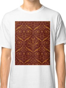 Orange and Red Decorative Spring Flower Design Classic T-Shirt