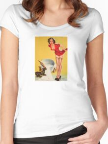 Vintage Woman Women's Fitted Scoop T-Shirt